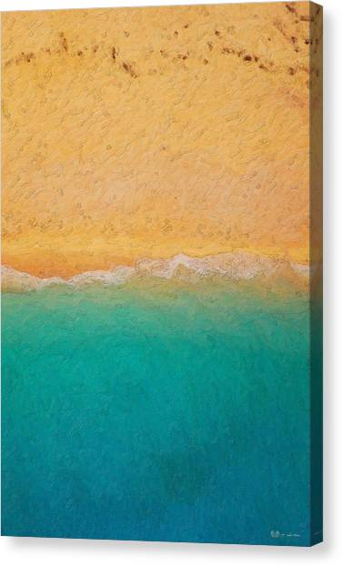 Minimalist Decor Canvas Print - Not Quite Rothko - Surf And Sand by Serge Averbukh