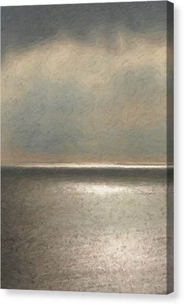 Pop Art Canvas Print - Not Quite Rothko - Twilight Silver by Serge Averbukh