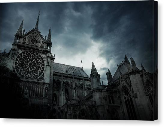 Rainier Canvas Print - Notre Dame De Paris by Cambion Art