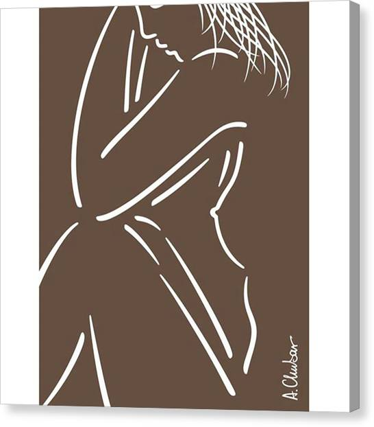Female Nudes Canvas Print - Nude By Alexander Chubar  #nude #art by Alexander Chubar