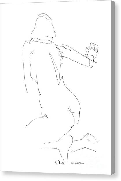Nude Female Drawings 8 Canvas Print