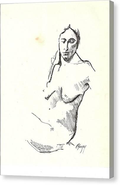 Nude Three Canvas Print