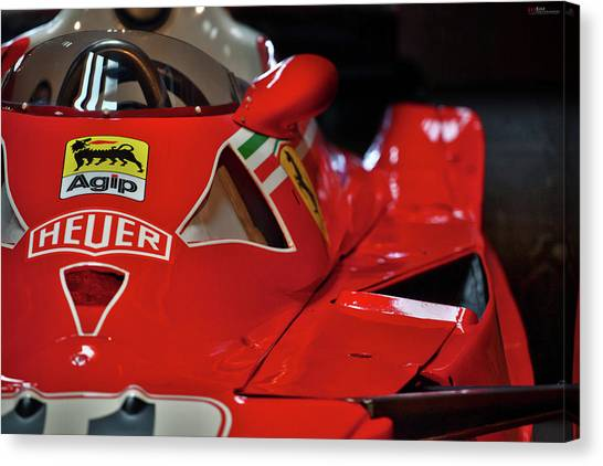 Canvas Print featuring the photograph Number 11 By Niki Lauda #print by ItzKirb Photography