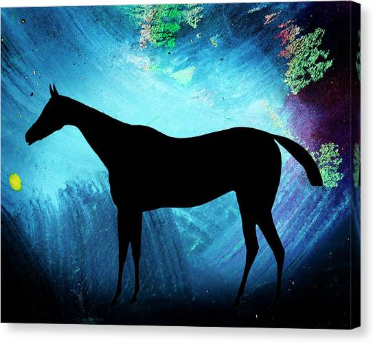 Abstract Horse Art Canvas Print - Nursery Wall Art - Horse Silhouette by Donald Erickson  sc 1 st  Fine Art America : horse silhouette wall art - www.pureclipart.com