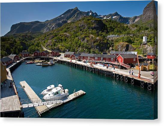 Nusfjord Fishing Village Canvas Print
