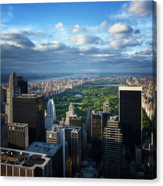 Skylines Canvas Print - Nyc Central Park by Nina Papiorek