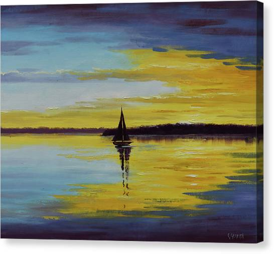 Ocean Sunset Canvas Print - Ocean Sunset by Graham Gercken