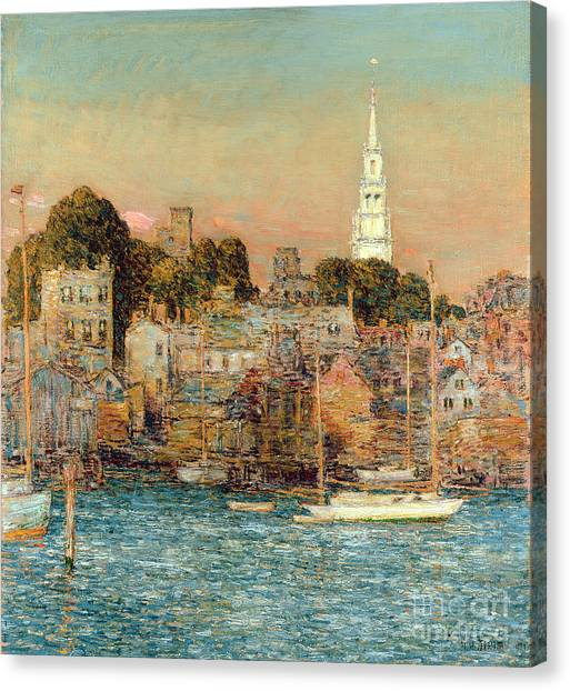 Newport Canvas Print - October Sundown by Childe Hassam