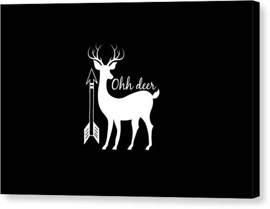 Baby Deer Canvas Print - Ohh Deer by Chastity Hoff