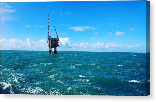 Oil Rigs Canvas Print - Oil Platform by Mariel Mcmeeking