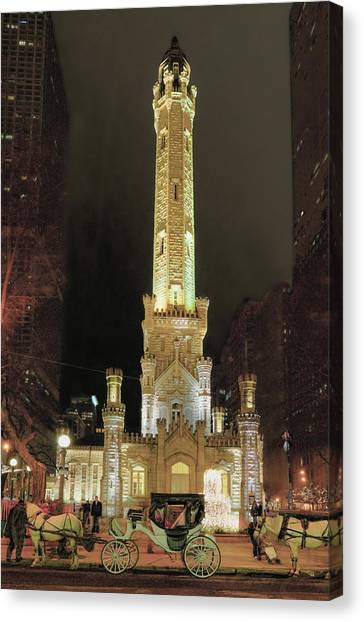 Old Chicago Water Tower Canvas Print