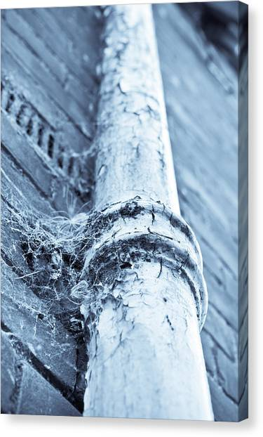 Drain Pipe Canvas Print - Old Drain Pipe by Tom Gowanlock