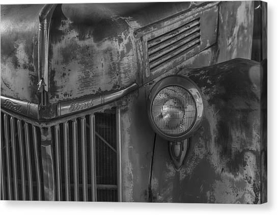 Ford Truck Canvas Print - Old Ford Pickup by Garry Gay