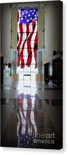 University Of Kansas Canvas Print - Old Glory by Amy Steeples
