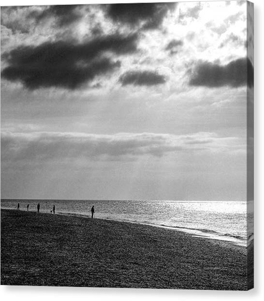 Sunset Canvas Print - Old Hunstanton Beach, Norfolk by John Edwards