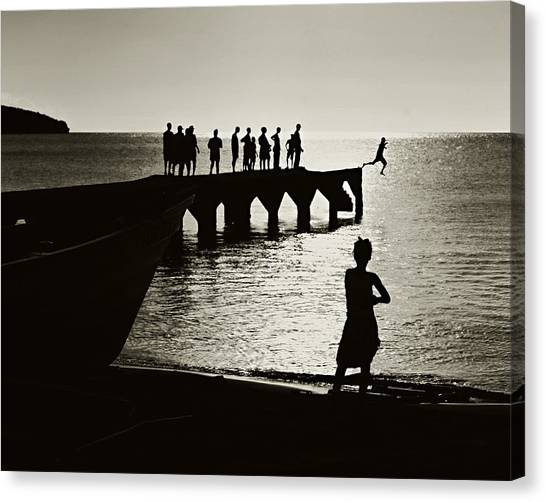 Old Jetty- St Lucia Canvas Print