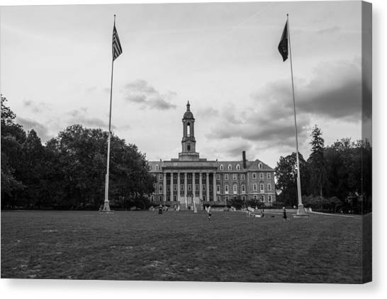 e5977a90acfe4 Penn State University Canvas Print - Old Main Penn State Black And White by John  McGraw