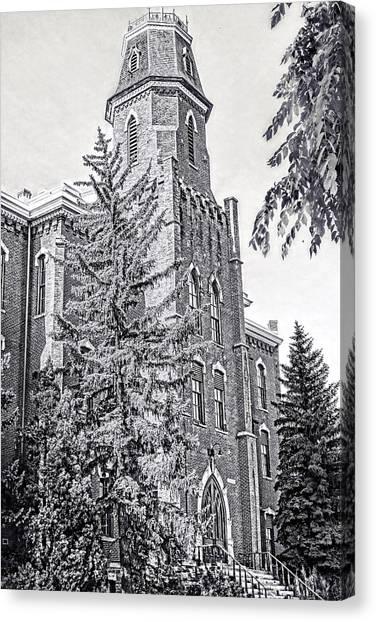 University Of Colorado Canvas Print - Old Main University Of Colorado Boulder by Ann Powell