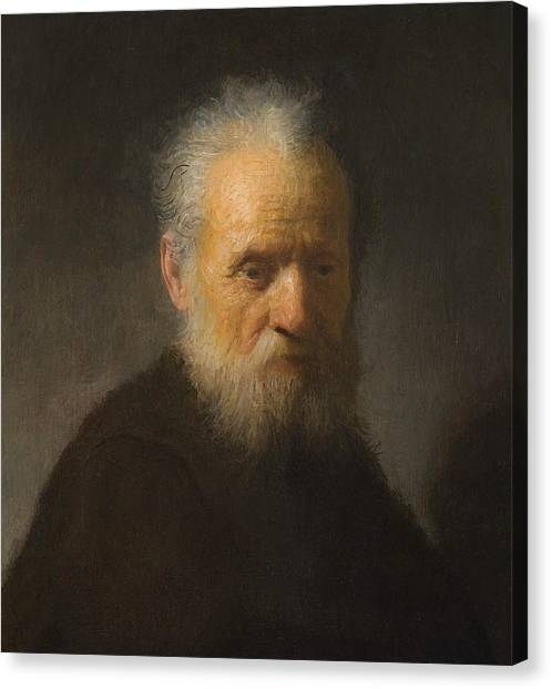 Baroque Art Canvas Print - Old Man With Beard by Rembrandt