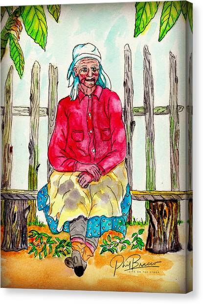 Old Migrant Worker, Resting, Arcadia, Florida 1975 Canvas Print