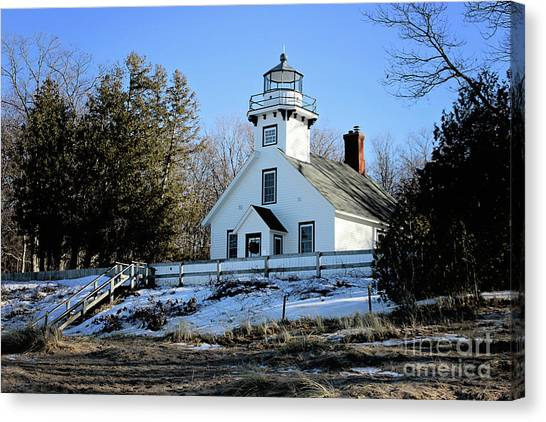 Old Mission Lighthouse Canvas Print