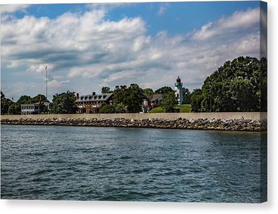 Old Point Comfort Light Canvas Print