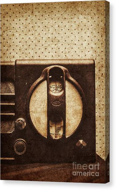 Speakers Canvas Print - Old Radio Nostalgia by Jorgo Photography - Wall Art Gallery