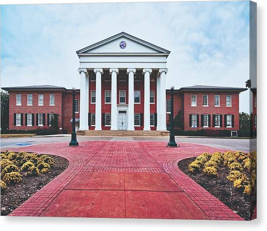 University Of Mississippi Ole Miss Canvas Print - Ole Miss Lyceum by Library Of Congress