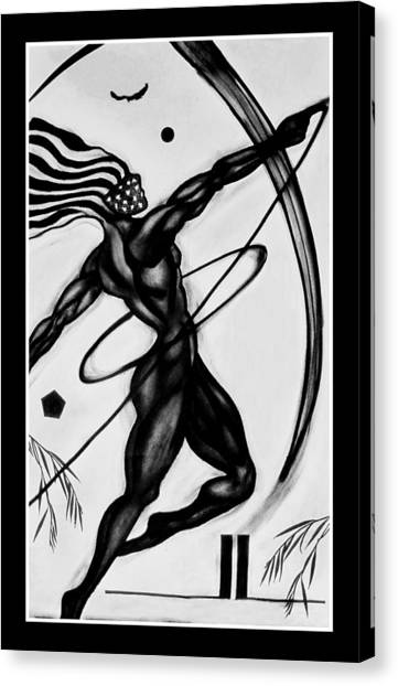 Omicron Flag Canvas Print