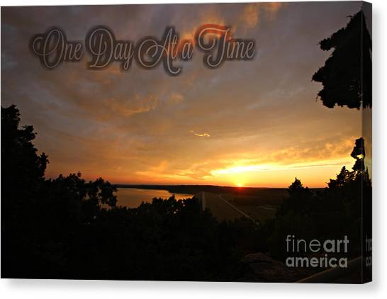 One Day At A Time Canvas Print