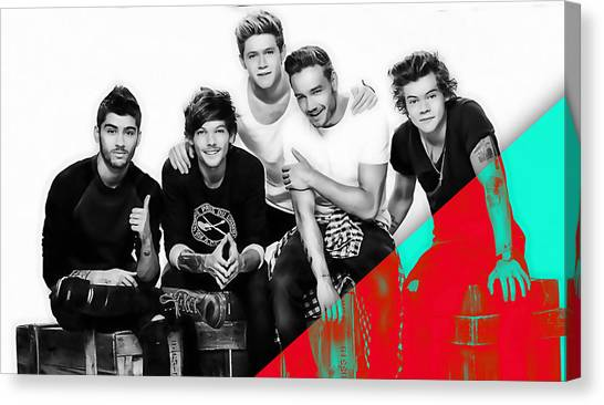 One Direction Canvas Print - One Direction Collection by Marvin Blaine