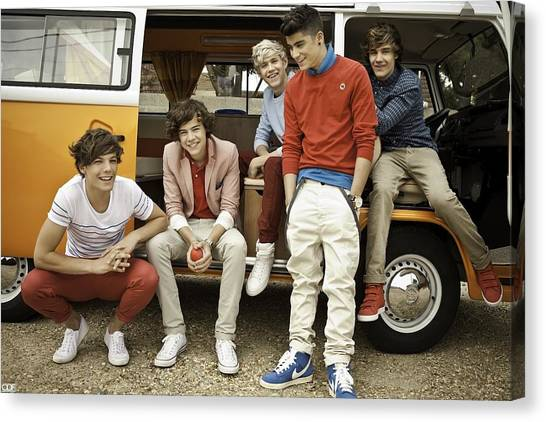 One Direction Canvas Print - One Direction by Maye Loeser