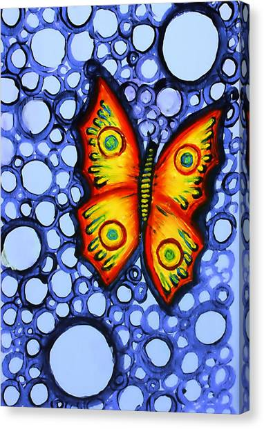Orange Butterfly Canvas Print by Brenda Higginson