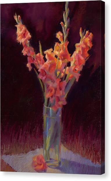 Orange Gladiolus Canvas Print by Cathy Locke