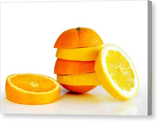 Salad Canvas Print - Oranje Lemon by Carlos Caetano
