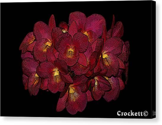 Orchid Floral Arrangement Canvas Print