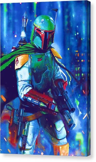 Obi-wan Kenobi Canvas Print - Original Star Wars Poster by Larry Jones