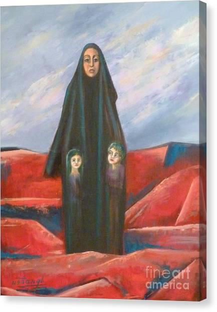 Orphans Canvas Print by Ushangi Kumelashvili