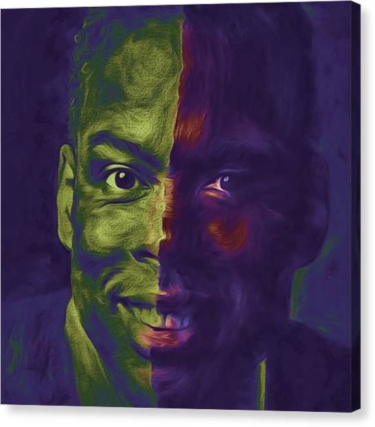 Celebrities Canvas Print - #oscars @chrisrock @jerryseinfeld by David Haskett II