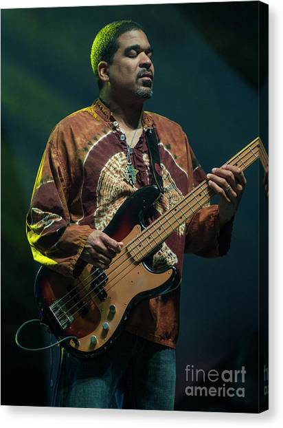 The Allman Brothers Canvas Print - Oteil Burbridge With The Allman Brothers Band by David Oppenheimer