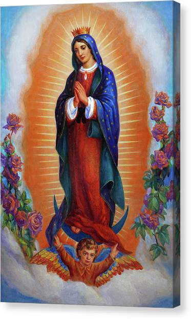Saints Canvas Print - Our Lady Of Guadalupe - Virgen De Guadalupe by Svitozar Nenyuk