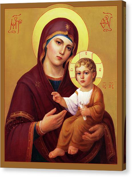 Priests Canvas Print - Our Lady Of The Way - Virgin Hodegetria by Svitozar Nenyuk