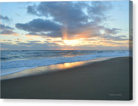 Canvas Print featuring the photograph Outer Banks Sunrise  by Barbara Ann Bell