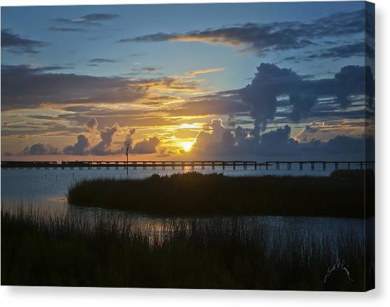 Canvas Print featuring the photograph Outer Banks Sunset by Williams-Cairns Photography LLC