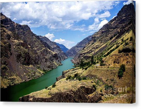 Oxbow Dam Tailwater Idaho Journey Landscape Photography By Kaylyn Franks  Canvas Print