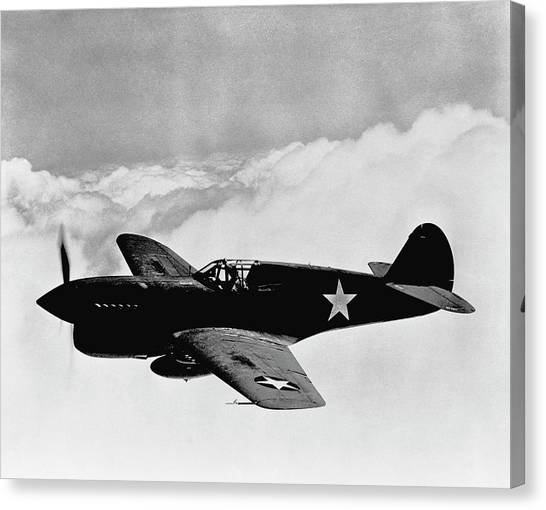 Airplanes Canvas Print - P-40 Warhawk by War Is Hell Store
