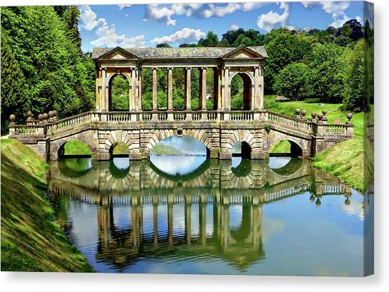 Palladian Bridge Nature Scene Canvas Print