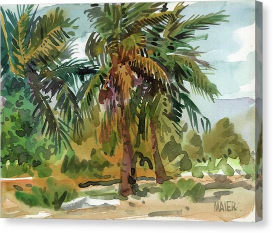 Trees Canvas Print - Palms In Key West by Donald Maier