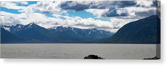 Panorama Of Beluga Point Canvas Print