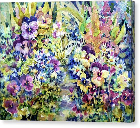 Pansy Path Canvas Print